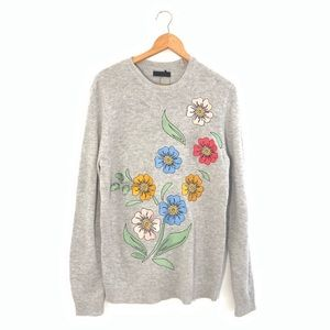 NWT ASOS Floral Embroidered Crewneck Sweater